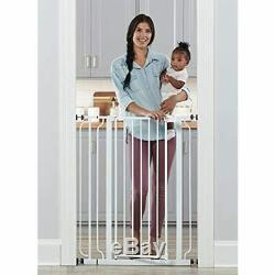 Easy Step Extra Tall Walk Thru Baby Gate, Includes 4-Inch Extension Kit, Pack Of