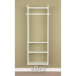 Easy Track Hanging Tower Kit Closet Storage 72 inch White Easy DIY Installation