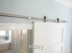 Easy install top mount barn door hardware stainless steel sliding barn track kit