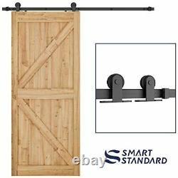 Easy to Install Sliding Barn Door Hardware Kit T-Shape 6.6ft (Single Door)