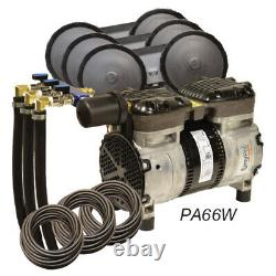 EasyPro Rocking Piston Pond Aeration System 1/2 HP Kit Quick Sink Tubing PA66W