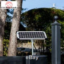 Electric Gate Opener 10-Watt Solar Panel Kit Easy-Install Gate Opener Accessory