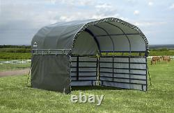 Enclosure Kit for Corral Shelter, Green, 12 ft. X 12 ft. Easy Install Polyester