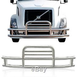 FRONT CHROME STAINLESS STEEL Fits 08-17 Freightliner Cascadia 113/125 Deer Guard