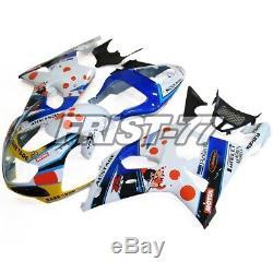 Fairings for 2000 Suzuki GSXR1000 2001 2002 Body Kits K2 Cowlings White Blue Red