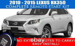 Fits Lexus RX350 Remote Start Complete Kit 2010 2015 Easy Install