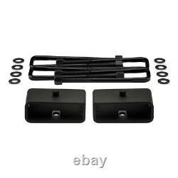 For 03-17 Express Savana AWD 2.5 F + 2 R Full Lift Kit + Shock Mount Extenders
