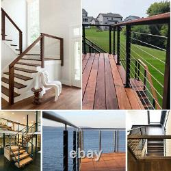 For 1/8 Cable Railing Kit Height Wood Kit 316 Stainless Steel Easy Installation