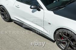For 16-Up Camaro SS Refresh ZL1 Style Front Bumper Lip Splitter & Side Skirts