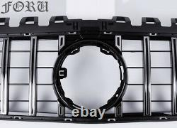 For 2019 2020 W177 Mercedes Benz A Class A200 A250 GTR Front Grille Grill Silver