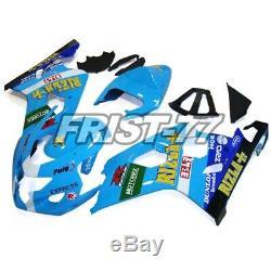 Frames for Suzuki GSXR600 GSXR750 04 05 Fairings K4 Body Kits Light Blue Black