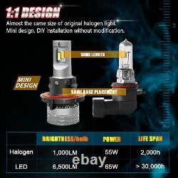 H13 9008 LED Headlight Bulb 13000LM White for Ford F-150 2004-2014 High Low Beam