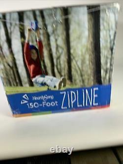 Hearthsong150' Backyard Zipline Kit250 Lb CapacityEasy Install (732787) BLUE