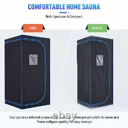 Home Sauna Kit for Slimming Fat Loss & More 1300W Infrared Sauna Tent with Chair