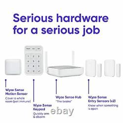 Home Security System Core Kit with Hub Keypad Motion Entry Sensor Easy DIY Install