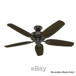 Hunter Ceiling Fan LED Light Kit Remote Indoor Easy Install Noble Bronze 54 Inch