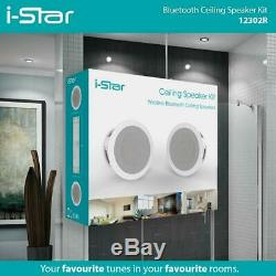 I-Star Ceiling Bluetooth Speakers Complete Kit Easy To Install Ceiling