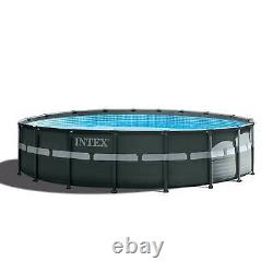 Intex 18ft x 52in Ultra XTR Round Swimming Pool, Pump, Ladder, & Cleaning Kit