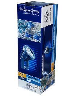 LED Garden Spike Light Kit 12v 3w LED per Spike Easy Install 5 pack