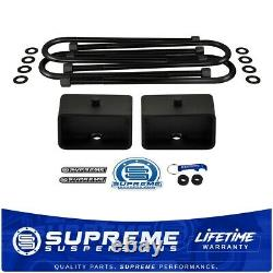 Leveling Kit For 2002-2008 Dodge Ram 1500 3 Rear Lift Blocks with U-Bolts 2WD 4x2