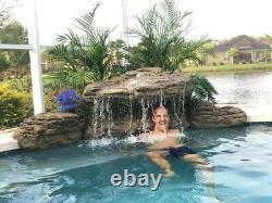 Lghtweight pool waterfall kit easy installation FREE SHIPPING 5 yr. Warranty