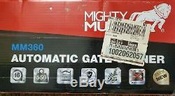 Mighty Mule MM360 Single Automatic Gate Opener System Easy Install Kit Solar
