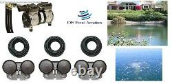 NEW 1/2hp Large Lake Pond Aeration Kit-3 Diffusers 300' Sink Tube PA66W 1+ Acre