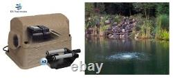 NEW 1/4+ Acre Large Lake & Pond Aeration KIT with 2 Diffusers/ Faux Rock 2.5 cfm