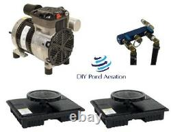 NEW EasyPro Sentinel Lake Aeration System PA34- Kit with 1/4 HP 2 Diffuser 1+acre
