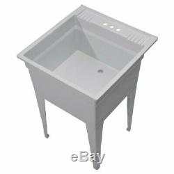 NEW Heavy Duty Utility Sink Kit Free Standing Design Makes Easy Installation