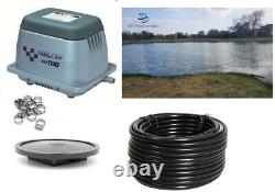 NEW Hiblow Small Fish Pond / Septic Aeration Kits up to 24,000 GAL or 1/2 acre
