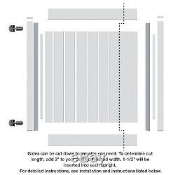 New Walk Fence Gate Kit 4 x 4 White Vinyl Bryce Washington Series Easy Install