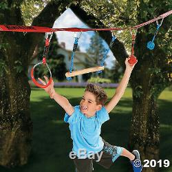 Ninja Line Hanging Obstacles Kit Nylon Rope Textured Grip Easy Installation