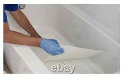 NuTub White Bathtub Base Non-Slip INLAY-WT-1640-1 Acrylic Repair Kit 16 x 40