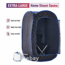 One Person Steam Sauna Kit for Home w Popup Tent Chair Aromatherapy Box & Remote