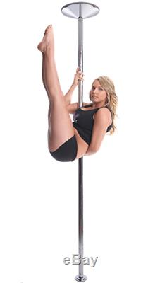 Portable Height Adjustable Easy Install 1.8 Chrome Pole Dancing Fitness Set Kit