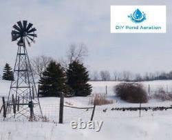 Professional Windmill Pond Aeration Kits 12-20' Tall 0-2 Acre Ponds 5yr Warranty