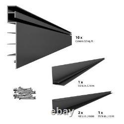 Proslat 8' Wall Panel Kit Easy Install Tool Equipment Holding Organizer Charcoal