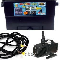 Pump, Hose & Filter Kit for 3600 Gallon Pond, Water Garden & Pond Combo Pack