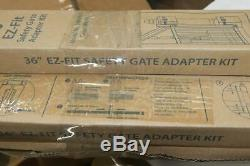 Qty 5 EZ-Fit 36 Baby Gate Walk Thru Adapter Kit for Stairs