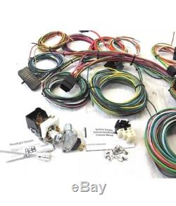 Race Car 22 Circuit Wiring Harness Kit Easy Painless Install Sand Rail Hot  RodKit Easy Installation
