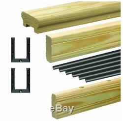 Rail Kit Pressure Treated 6' Aluminum Southern Yellow Pine Easy Installation DIY