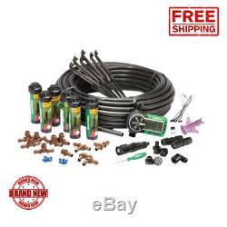 Rain Bird Automatic Underground Yard Lawn Sprinkler System Kit Easy Installation