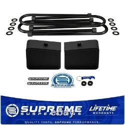 Rear Leveling For 02-08 Dodge Ram 1500 2WD 4 Tall Steel Lift Blocks + U-Bolts