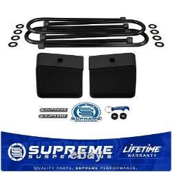 Rear Lift Kit For 2002-2008 Dodge Ram 1500 4.5 Tall Blocks with U-Bolts 2WD 4x2