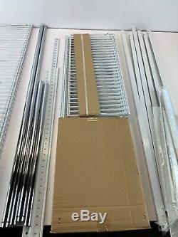 Rubbermaid FastTrack 6-10-ft Closet Kit White Easy Installation Shelves Rods New