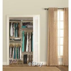 Rubbermaid Kit Flexible Closet System White Wire Adjustable Easy Installation