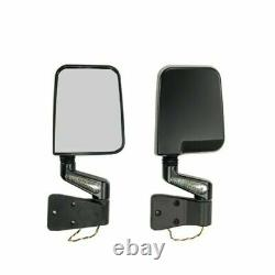 Rugged Ridge 11015.01 Door Mirror Kit with LED Turn Signals for Wrangler YJ/TJ