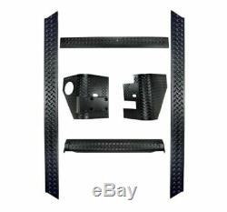Rugged Ridge 11650.51 Black 6 Piece Body Armor Kit for 97-06 Jeep Wrangler TJ