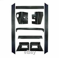 Rugged Ridge 11650.60 Full 9 Piece Black Body Armor Kit for Jeep Wrangler TJ/LJ